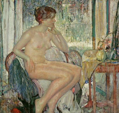 Richard Edward Miller (1875-1943) Seated Nude 34 x 36in