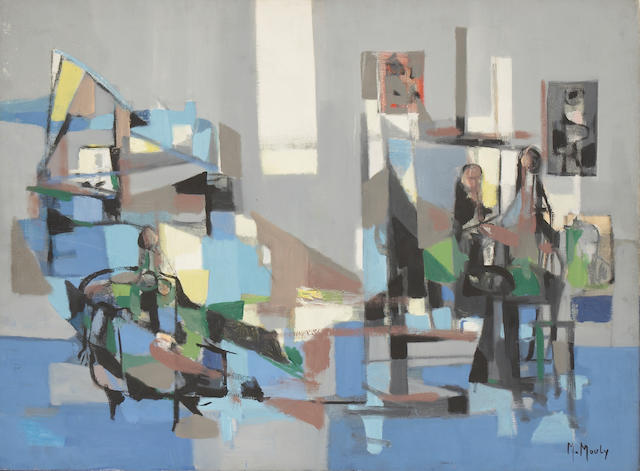 Marcel Mouly (French, 1918-2008) Atelier ensoleillé 23 3/8 x 31 7/8in (59.5 x 81cm)