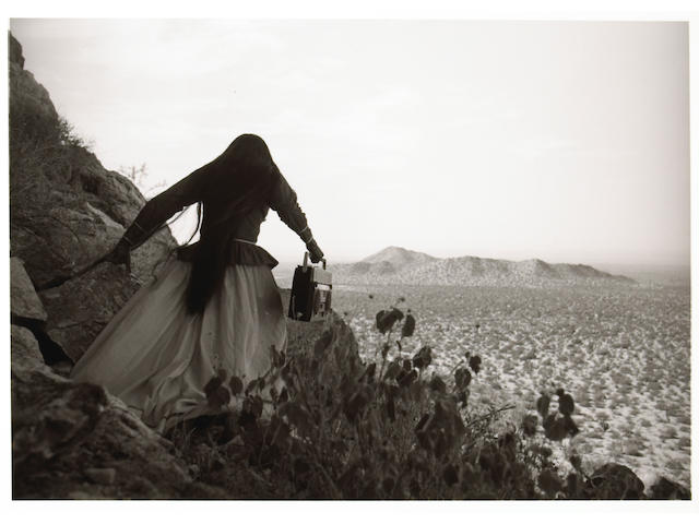 Graciela Iturbide (Mexican, born 1942); Mujer Angel (Angel Woman) Sonora Desert;