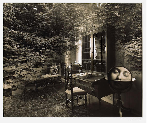 Jerry Uelsmann (American, born 1934); Untitled (Toning Experience); Untitled (Kudzu Library with Wom
