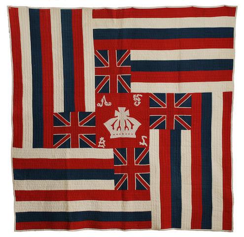 A rare Hawaiian flag quilt, Ku'u Hae Aloha