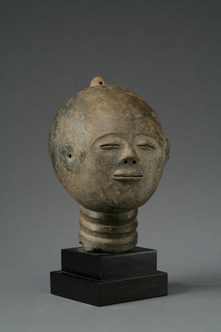 An Akan terracotta funerary head