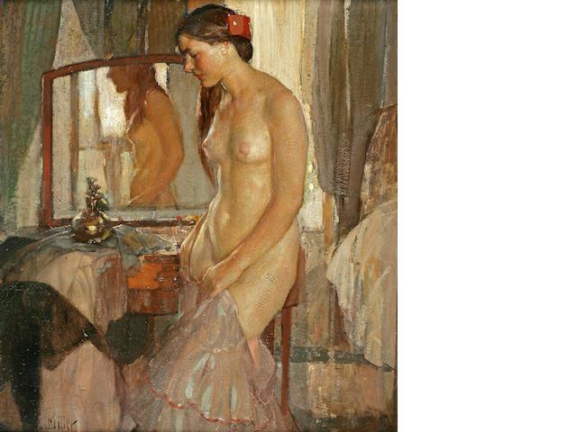 Richard Edward Miller (American, 1875-1943) Standing Nude 36 x 34in