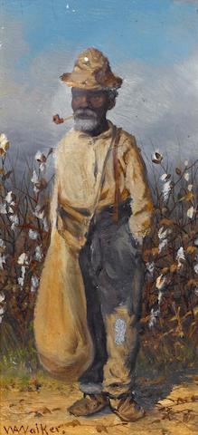 William Aiken Walker (American, 1838-1921) Cotton Pickers, a pair both 8 x 4in