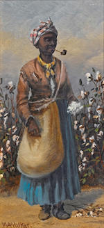 William Aiken Walker (American, 1838-1921) Cotton Pickers, a pair both 8 x 4in