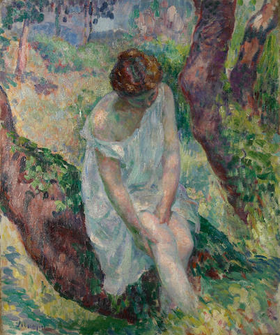 (n/a) Henri Lebasque (French, 1865-1937) La baigneuse, St. Tropez, 1906 21 5/8 x 18 1/8in (55 x 46cm)