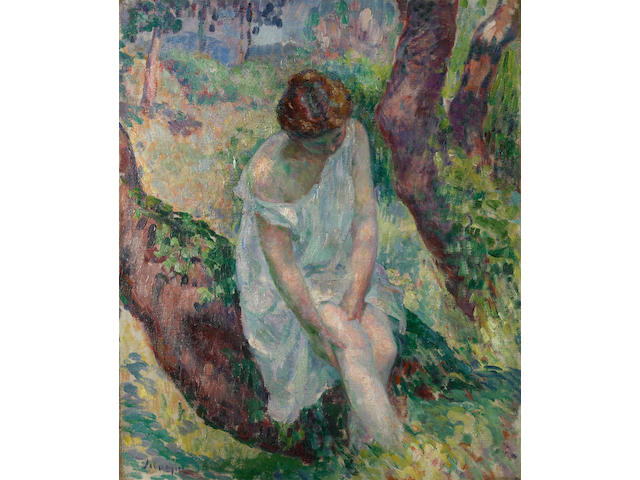Henri Lebasque (French, 1865-1937) La baigneuse, St. Tropez, 1906 21 5/8 x 18 1/8in (55 x 46cm)