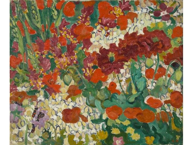 (n/a) Louis Valtat (French, 1869-1952) Parterre de fleurs aux coquelicots, c. 1910 18 1/8 x 21 5/8in (46 x 55cm)