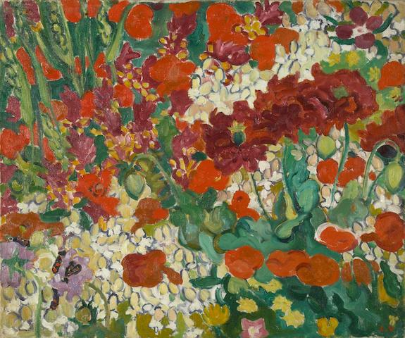 Louis Valtat (French, 1869-1952) Parterre de fleurs aux coquelicots, c. 1910 18 1/8 x 21 5/8in (46 x 55cm)