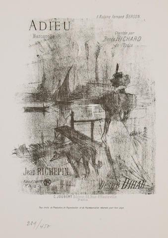 Henri de Toulouse-Lautrec (French, 1864-1901); Quatorze Lithographies Originales de Toulouse-Lautrec pour Illustrer des Chansons; (14)