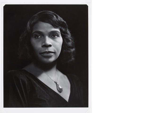Yousuf Karsh (Canadian, 1908-2002); Marian Anderson;