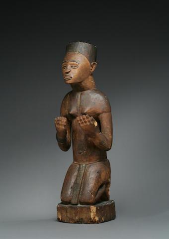 A Kongo kneeling figure