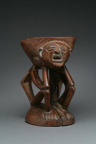 A Songye openwork stool