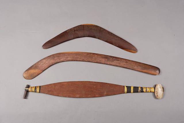Three Aboriginal weapons