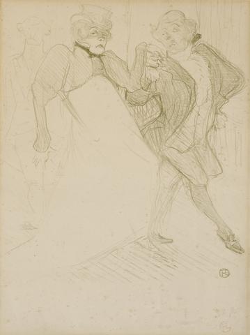 Henri de Toulouse-Lautrec (French, 1864-1901); Réjane et Galipaux, dans Madame Sans-Gêne;