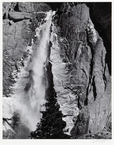 Ansel Adams (American, 1902-1984); Upper Yosemite Falls, Spring;