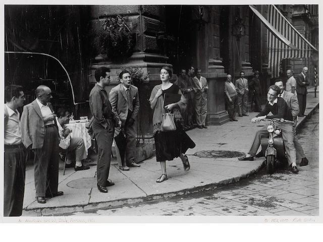 Ruth Orkin (American, 1921-1985); American Girl in Florence, Italy;