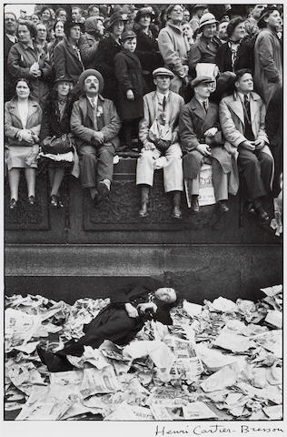 Henri Cartier-Bresson (French, 1908-2004); Trafalgar Square on the Day of the Coronation of George VI, London;