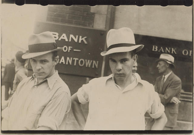 Walker Evans (American, 1903-1975); Main Street Faces;