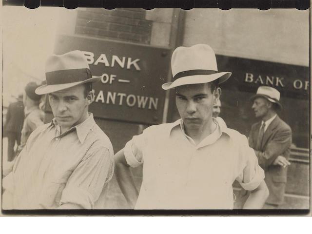 Walker Evans (American, 1903-1975); Main Street Faces;