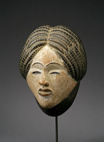 An exceptional Black Punu mask