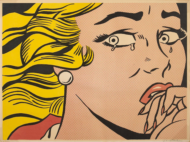 Roy Lichtenstein (American, 1923-1997); Crying Girl;