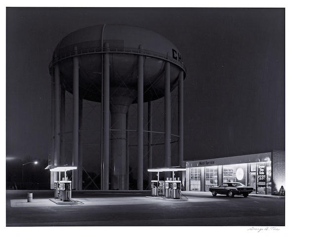George Tice (American, born 1938); Petit's Mobil Gas Station, Cherry Hill, New Jersey;