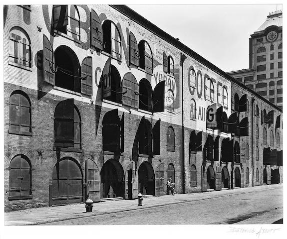 Berenice Abbott (American, 1898-1991); Yuban Coffee Warehouse, Water and Dock Streets, Brooklyn;