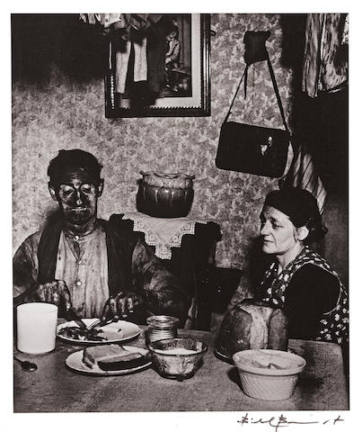 Bill Brandt (British, 1904-1983); A Northumbrian Miner at His Evening Meal;
