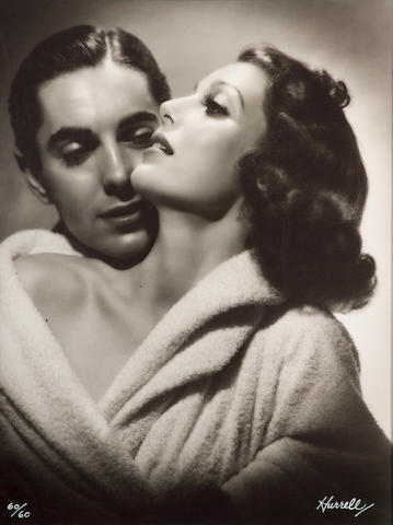 George Hurrell (American, 1904-1992); Loretta Young and Tyrone Power;
