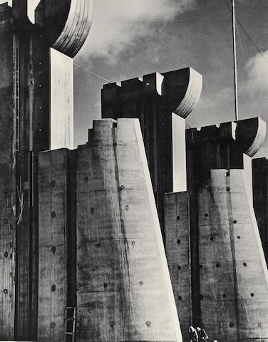 Margaret Bourke-White (American, 1904-1971); Fort Peck Dame, Montana;