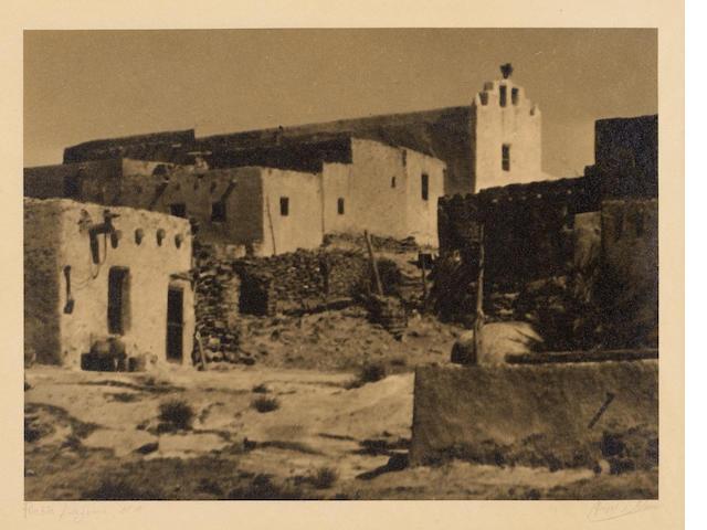Ansel Adams (American, 1902-1984); Pueblo Laguna, N.M.;