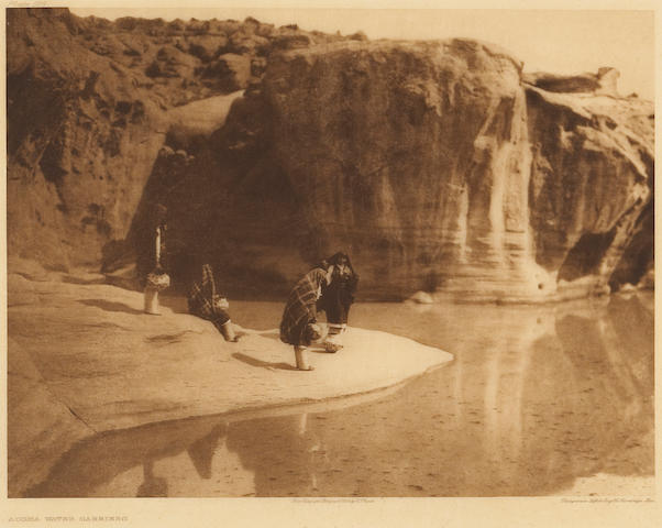 Edward S. Curtis (American, 1868-1952); Acoma Water Carriers; Modern Designs in Washo Baskets; (2)
