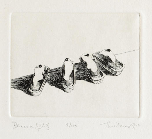 Wayne Thiebaud (American, born 1920); Banana Splits, from Delights;