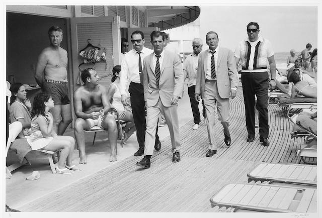 Terry O'Neill (British, born 1938); Frank Sinatra and Bodyguards, Miami Beach;