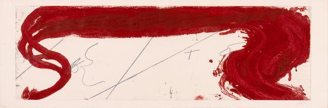 Antoni Tàpies (Spanish, born 1923); Untitled (Rouge Homentage);