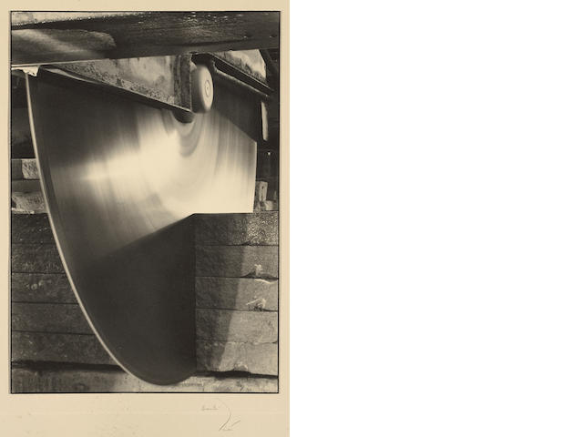 Margaret Bourke-White (American, 1904-1971); Diamond-Toothed Rotor, Indiana Limestone Co.;