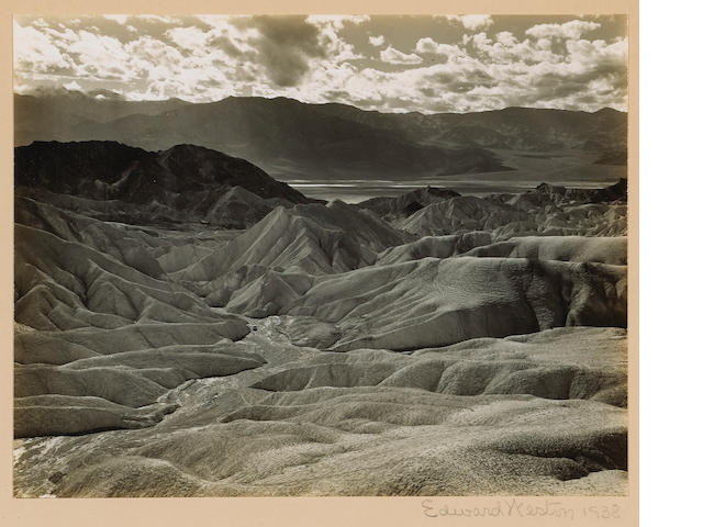 Edward Weston (American, 1886-1958); Zabriskie Point, Death Valley;