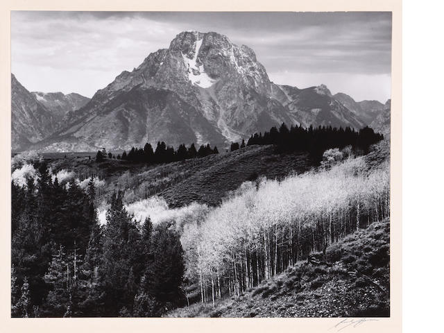 Ansel Adams (American, 1902-1984); Mt. Moran, Autumn;