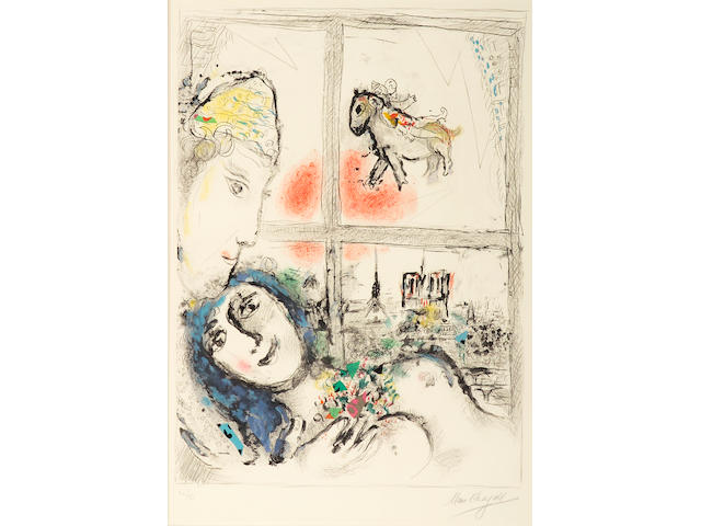 Marc Chagall (Russian/French, 1887-1985); Paris from My Window;