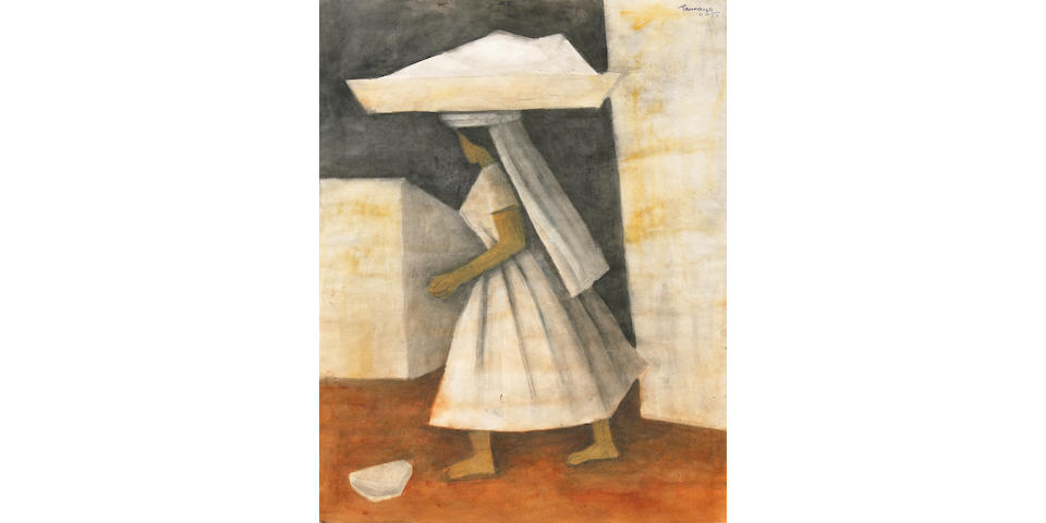 Rufino Tamayo (Mexican, 1899-1991) Mujer 21 7/8 x 17in (55.5 x 43cm)