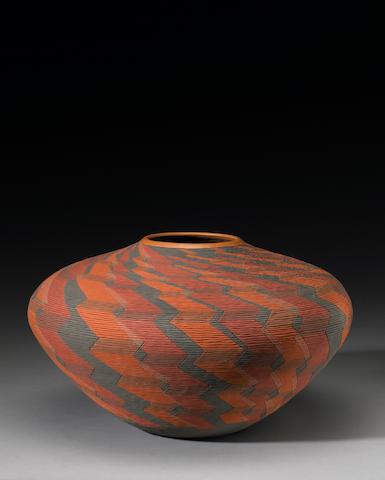 A Wyandot polychrome jar, Richard Zane Smith