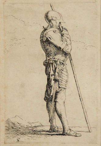 Salvator Rosa (Arenella 1615-1673 Rome); Studies of Figures; (4)