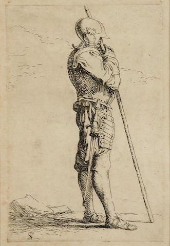 Salvator Rosa (Arenella 1615-1673 Rome); Studies of Figures; (4)