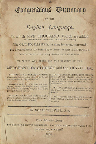 Webster.  Dictionary. 1806 12mo ed.