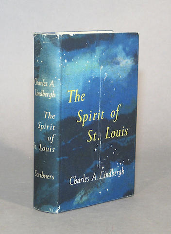 LINDBERGH, CHARLES. The Spirit of St. Louis. NY: 1953. Signed & inscribed by Lindbergh