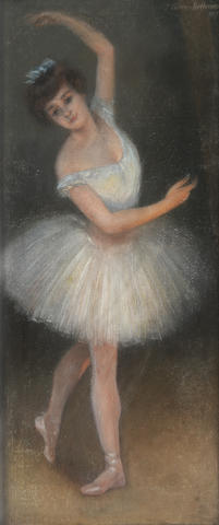 Attributed to Pierre Carrier-Belleuse (French, 1851-1932) A ballerina en pointe 41 x 19in (104.1 x 48.2cm)