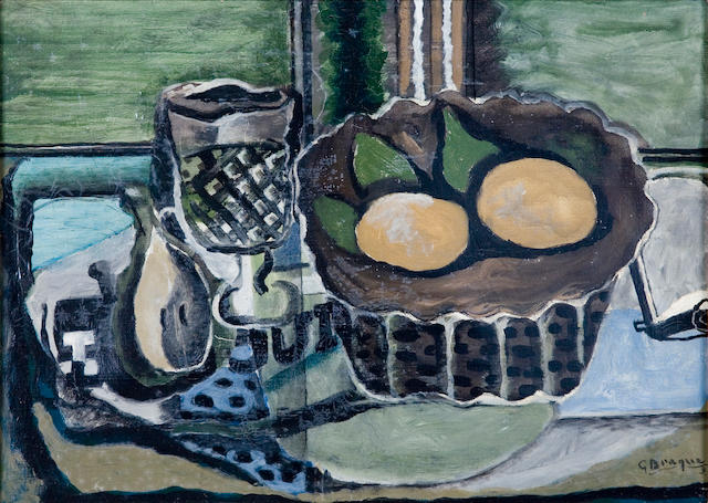 Georges Braque (French, 1882-1963) Nature Morte, 1929 13 x 18 1/8in (33 x 46cm)
