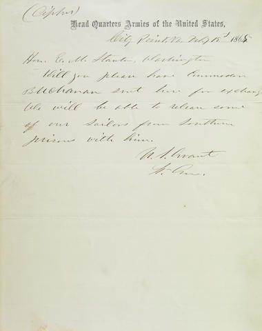 Grant, U.S. 1p. ALS Feb 15, 1865 as General