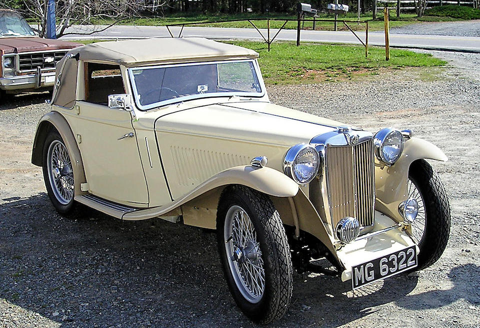 1938 MG TA 'Tickford' Drophead Coupe  Chassis no. TA2926 Engine no. MPJG3169